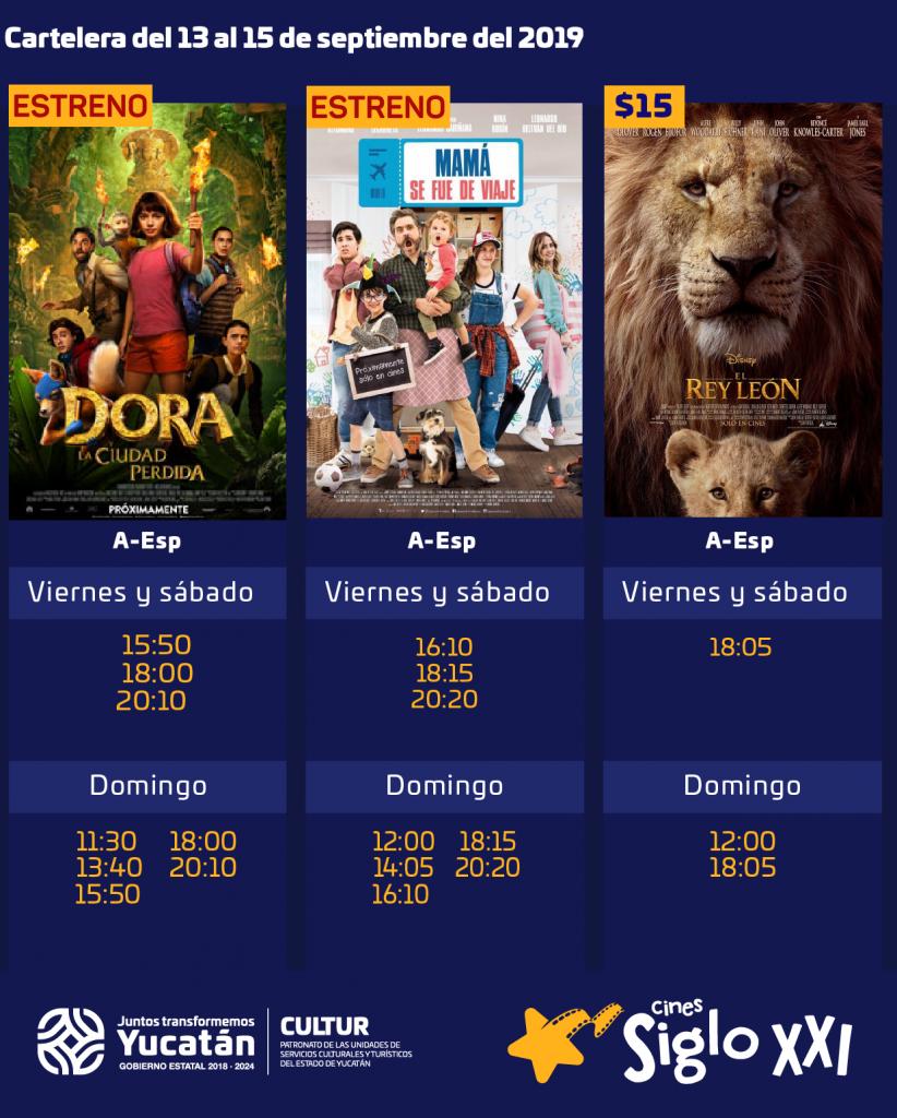Entradas a $15 y $20 por cierre temporal de los Cines Siglo XXI, el sábado 14 y domingo 15