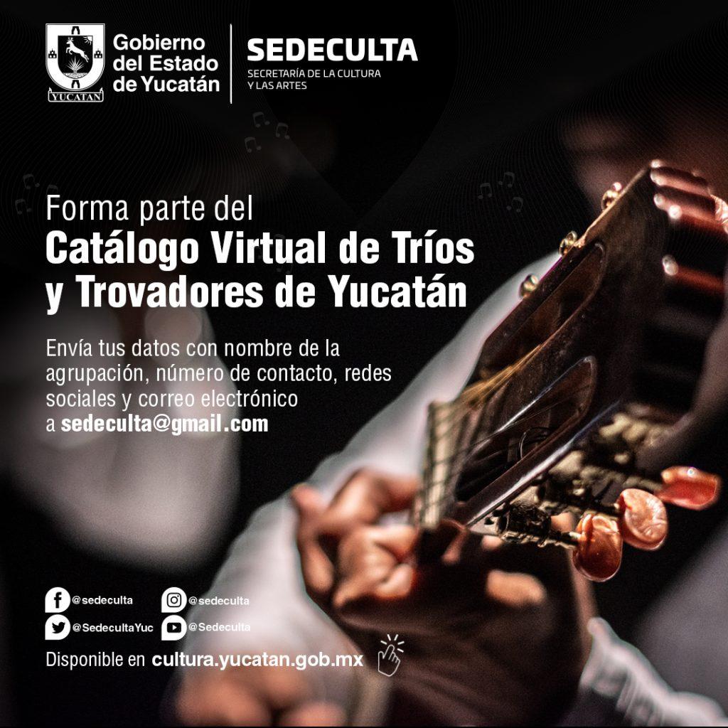 Presentan Catálogo Virtual de Trío y Trovadores de Yucatán